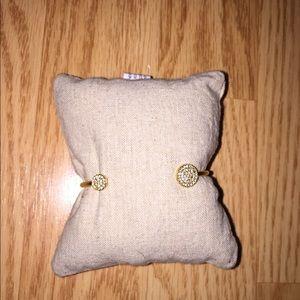 Stella & Dot pave gold bracelet